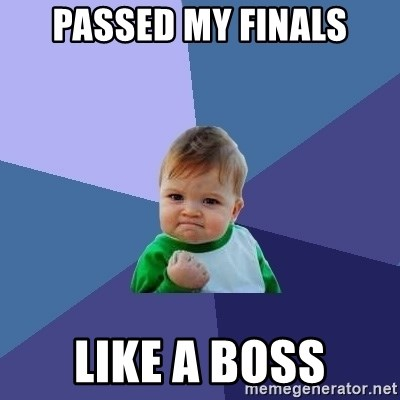 Success Kid - Passed my finals like a boss
