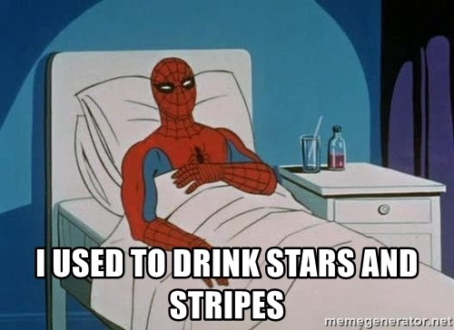 spiderman hospital -   i used to drink stars and stripes