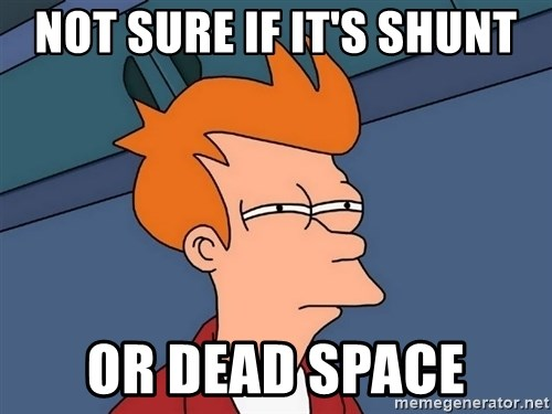 Futurama Fry - not sure if it's shunt or dead space