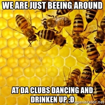 Honeybees - WE ARE JUST BEEING AROUND  AT DA CLUBS DANCING AND DRINKEN UP :D