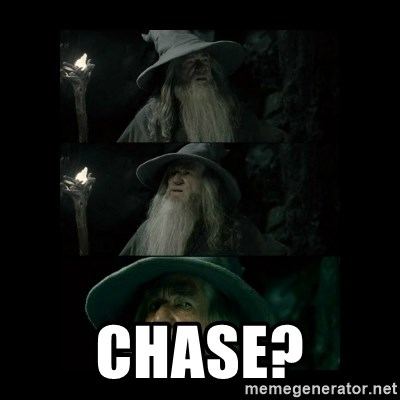 Confused Gandalf -  chase?