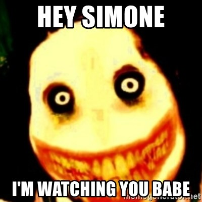 Tipical dream - HEY SIMONE  I'M WATCHING YOU BABE