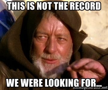 JEDI KNIGHT - THIS IS NOT THE RECORD WE WERE LOOKING FOR...