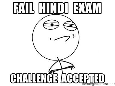 Challenge Accepted HD 1 - FAIL  HINDI  EXAM CHALLENGE  ACCEPTED