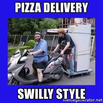 Motorfezzie - PIZZA DELIVERY SWILLY STYLE