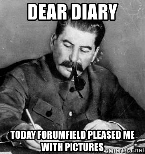 Dear Diary - Dear diary today forumfield pleased me with pictures