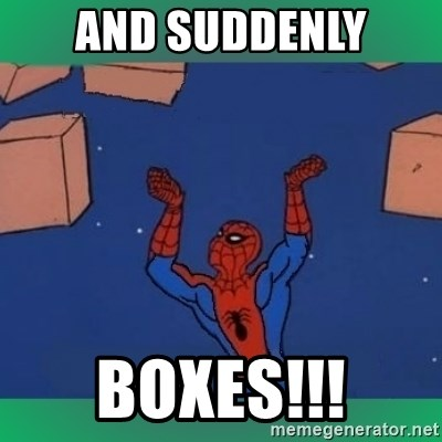 60's spiderman - and suddenly boxes!!!