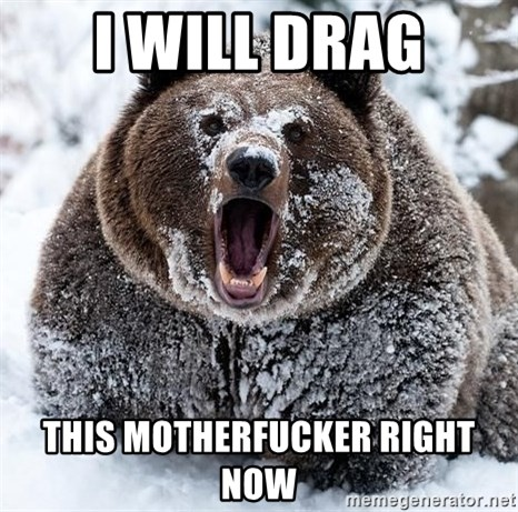 Clean Cocaine Bear - I will drag this motherfucker right now