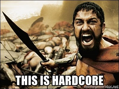 This Is Sparta Meme -  This is hardcore