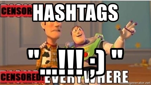 """Toy Story Everywhere - Hashtags """"...!!! ;) """""""