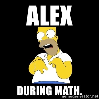 look-marge - ALEX  DURING MATH.