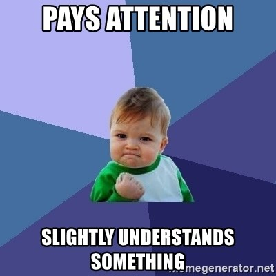 Success Kid - Pays attention slightly understands something