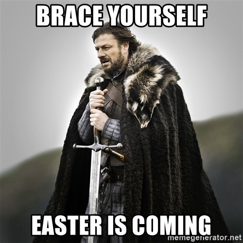 Game of Thrones - Brace Yourself Easter is coming