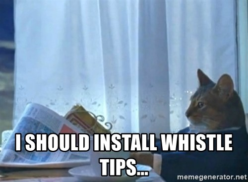 newspaper cat realization -  i should install whistle tips...