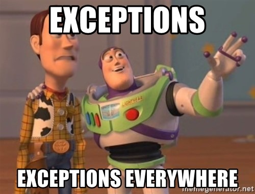 ToyStorys - Exceptions exceptions everywhere