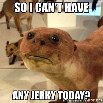 Sad Otter - SO I CAN'T HAVE ANY JERKY TODAY?