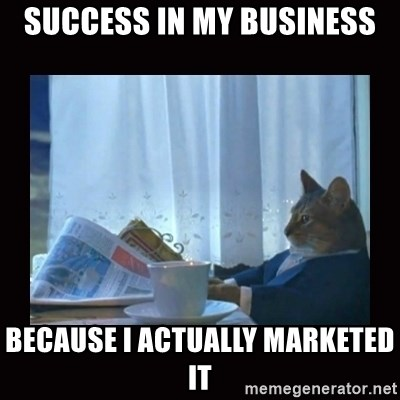 i should buy a boat cat - Success in my business because i actually marketed it