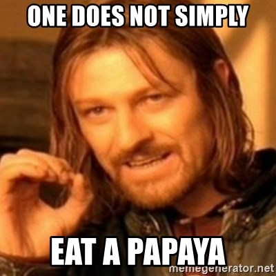 ODN - ONE DOES NOT SIMPLY EAT A PAPAYA