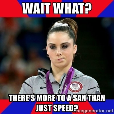 Mckayla Maroney Does Not Approve - Wait what? There's more to a SAN than just speed?