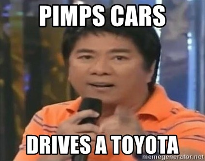willie revillame you dont do that to me - PIMPS CARS DRIVES A TOYOTA
