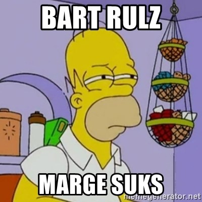 Simpsons' Homer - BART RULZ MARGE SUKS