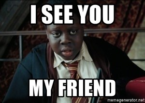 Harry Potter Black Kid - I SEE YOU MY FRIEND