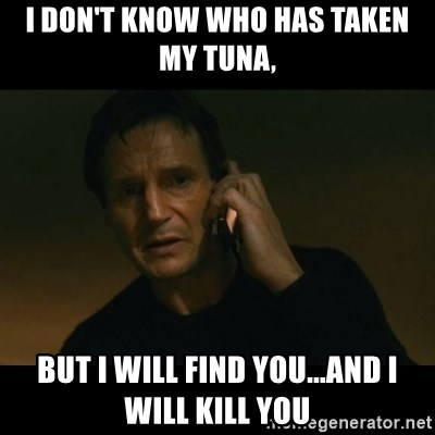 liam neeson taken - I don't know whO has taken my tunA, But I will find you...and I will kill you