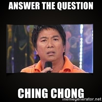 Willie Revillame me - ANSWER THE QUESTION  CHING CHONG