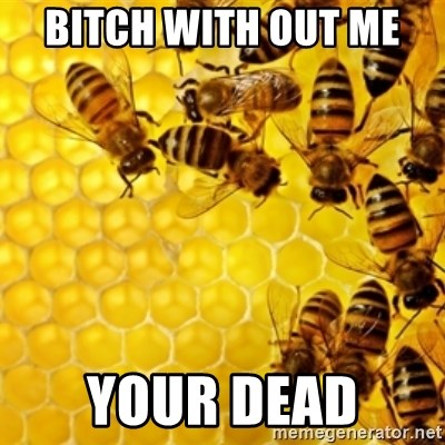 Honeybees - BITCH WITH OUT ME  YOUR DEAD