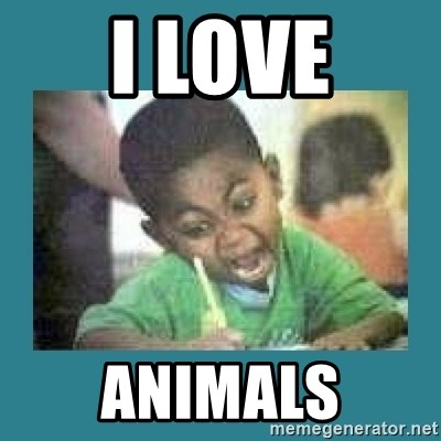 I love coloring kid - I LOVE ANIMALS