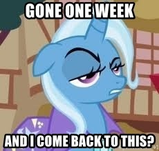 Seriously Pony - Gone one week and I come back to THIS?