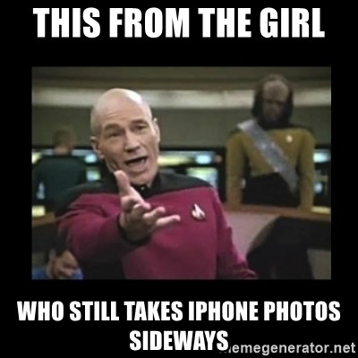 Patrick Stewart 101 - This from the girl  who still takes iphone photos sideways