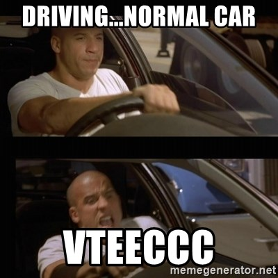 Vin Diesel Car - driving...normal car vteeccc