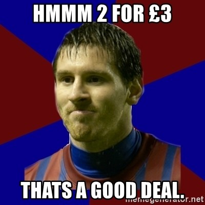 Lionel Messi - HMMM 2 FOR £3 THATS A GOOD DEAL.