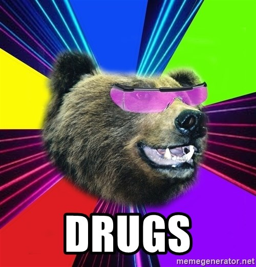 Party Bear -  DRUGS