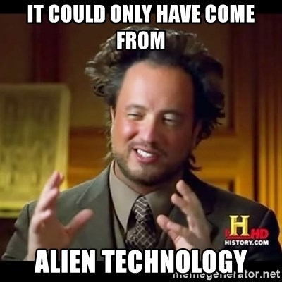 Tsoukalos - It could only have come from alien technology