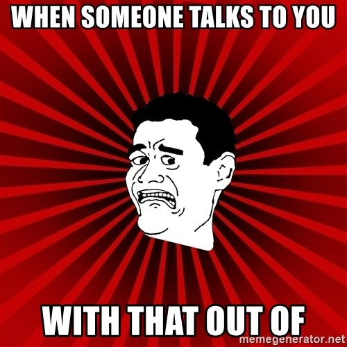 Afraid Yao Ming trollface - WHEN SOMEONE TALKS TO YOU WITH THAT OUT OF