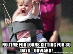 little girl swing -  no time for loans sitting for 30 days....onward!