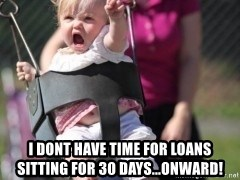 little girl swing -  i dont have time for loans sitting for 30 days...onward!