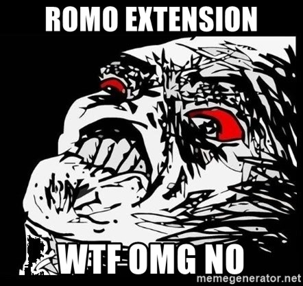 Rage Face - romo extension wtf omg no