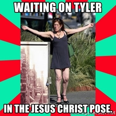 AMBER TROOCK DOWNTOWN EASTSIDE VANCOUVER - Waiting on Tyler IN THE JESUS CHRIST POSE.