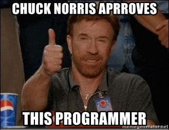 Chuck Norris Approves - CHUCK NORRIS APRROVES THIS PROGRAMMER