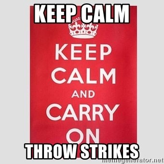 Keep Calm - Keep Calm Throw strikes