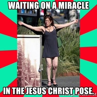 AMBER TROOCK DOWNTOWN EASTSIDE VANCOUVER - Waiting On A Miracle IN THE JESUS CHRIST POSE.