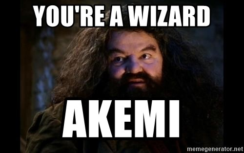 Yer A Wizard Harry Hagrid - you're a wizard akemi