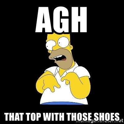 look-marge - AGH THAT TOP WITH THOSE SHOES