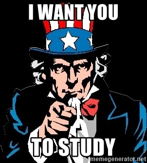 I Want You - i want you to study