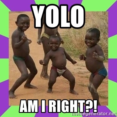 african kids dancing - yolo am i right?!