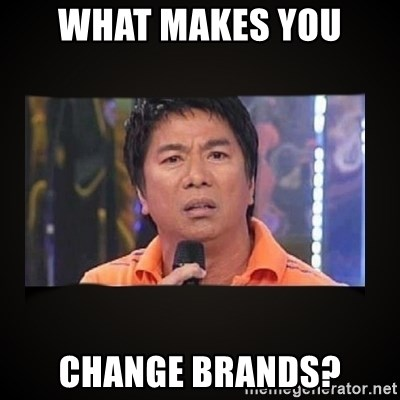 Willie Revillame me - What makes you Change brands?