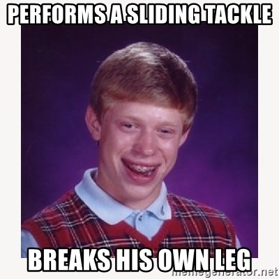 nerdy kid lolz - PERFORMS A SLIDING TACKLE BREAKS HIS OWN LEG